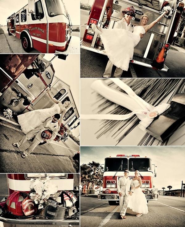 Firefighter Wedding Photos Love Engagement Wedding Ideas