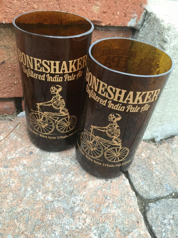 Amsterdam Brewery Co. 'Bone Shakerr' - Upcycled Drinking Glass. Set of 2.