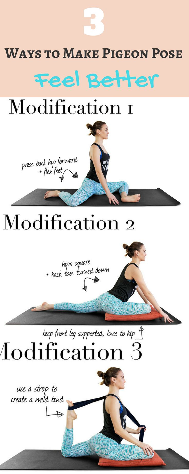 3 Ways To Make Pigeon Pose Feel Better | Pigeon pose ...