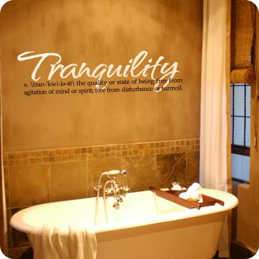 Tranquility Definition Vinyls Peace And Bath