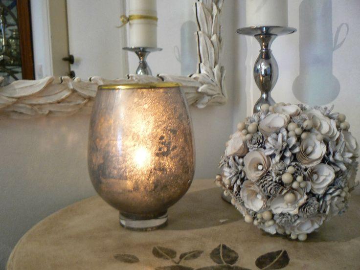 Γυαλί υδραργύρου...Mercury glass ~ Art Decoration and Crafting