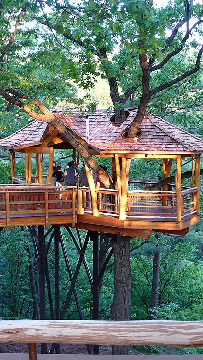 Nay Aug Park Scranton, Pennsylvania – Nay Aug Park…The David Wenzel Treehouse at Nay Aug Park in Scranton is the first of its kind in Pennsylvania. Set in the woods overlooking Nay Aug gorge, this treehouse is an incredible experience