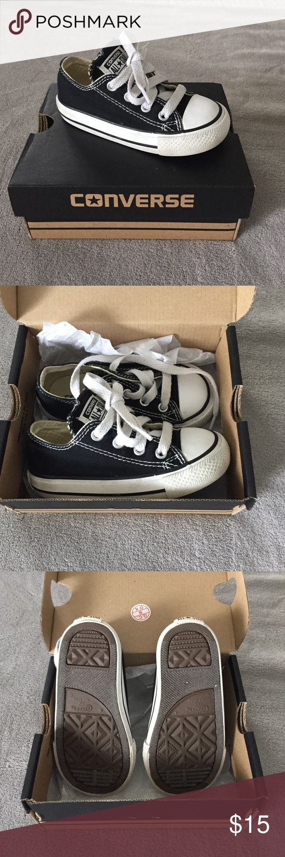 Baby Chuck Taylors Converse All Star Chuck Taylors. Like new, in box. Black and white. Size 6 infants. Converse Shoes Sneakers