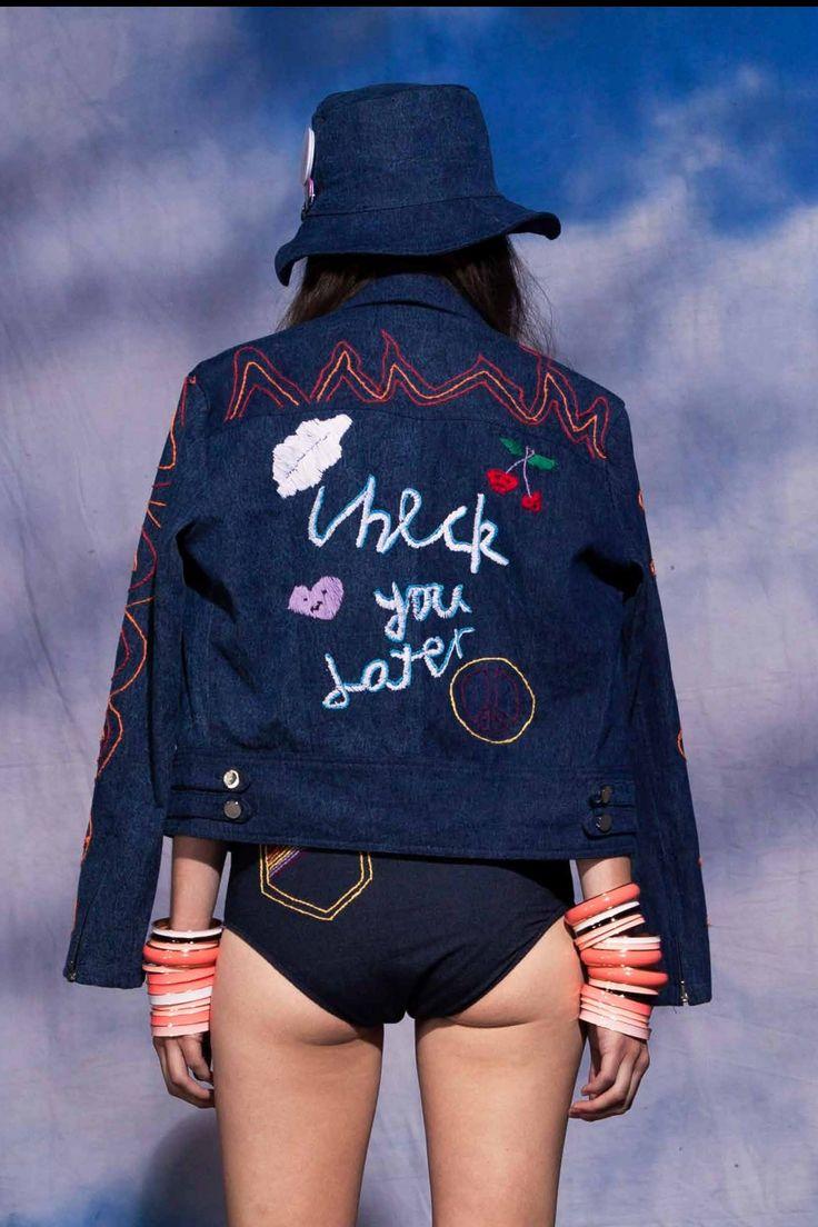 Emma Mulholland - Check You Later Denim Jacket