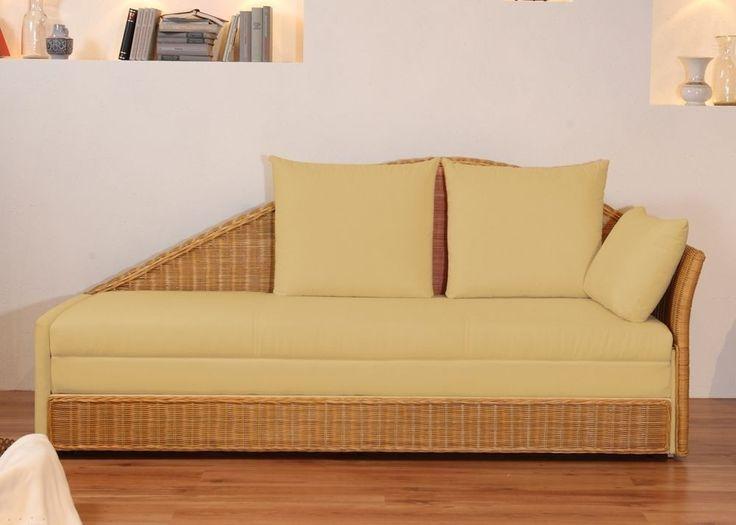 Design Schlafsofa Bettsofa Sofa Rattan Creme 2572. Buy now at https://www.moebel-wohnbar.de/design-schlafsofa-bettsofa-sofa-rattan-creme-2572.html