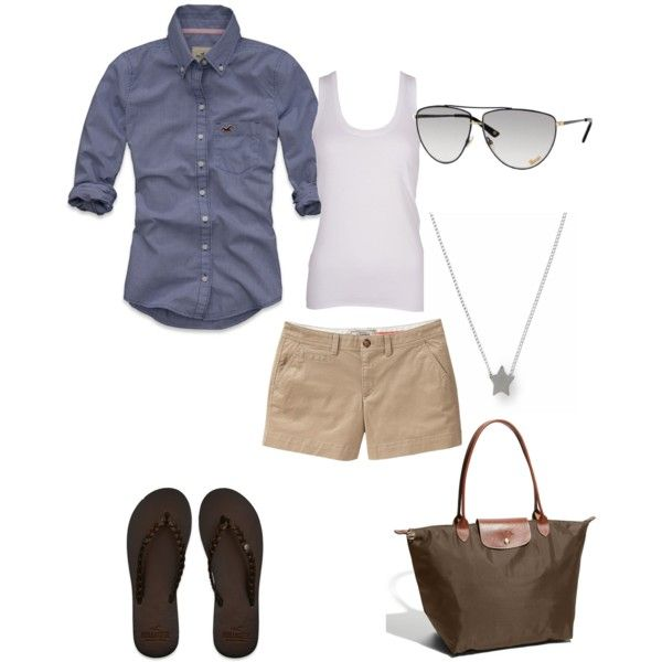 Summer, are you here yet?Fashion, Summer Day, Summer Looks, Casual Summer, Style, Chambray Shirts, Cute Preppy Outfit Summer, Summer Outfits, Khakis Shorts