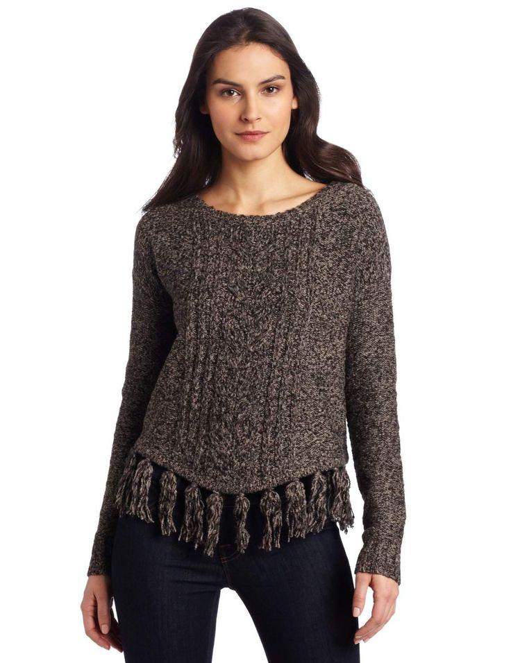 women-tweeded-knit-fringe-sweater-black-