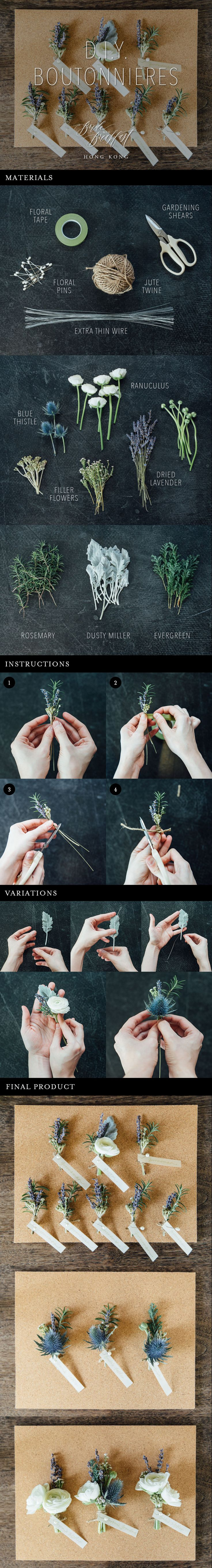 Easy DIY Boutonniere Tutorial                                                                                                                                                      More