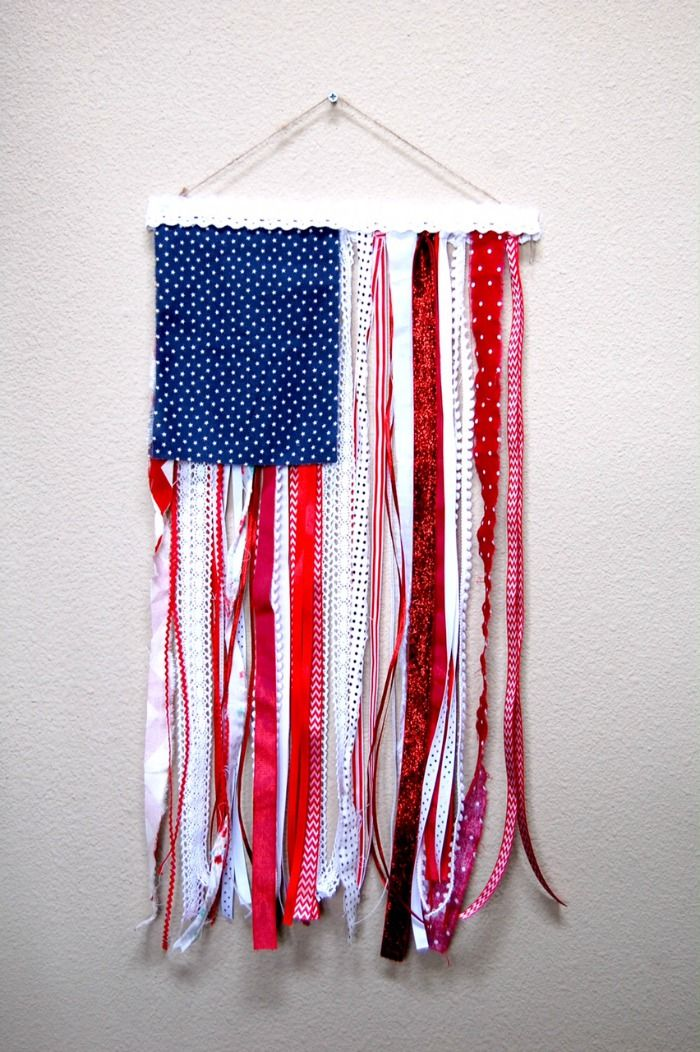 ribbon and rag us flag by now fancy that on etsy