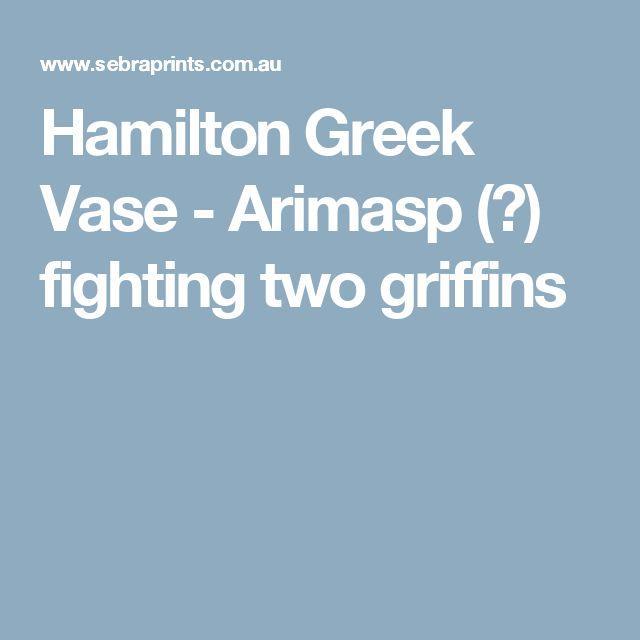 Hamilton Greek Vase - Arimasp (?) fighting two griffins