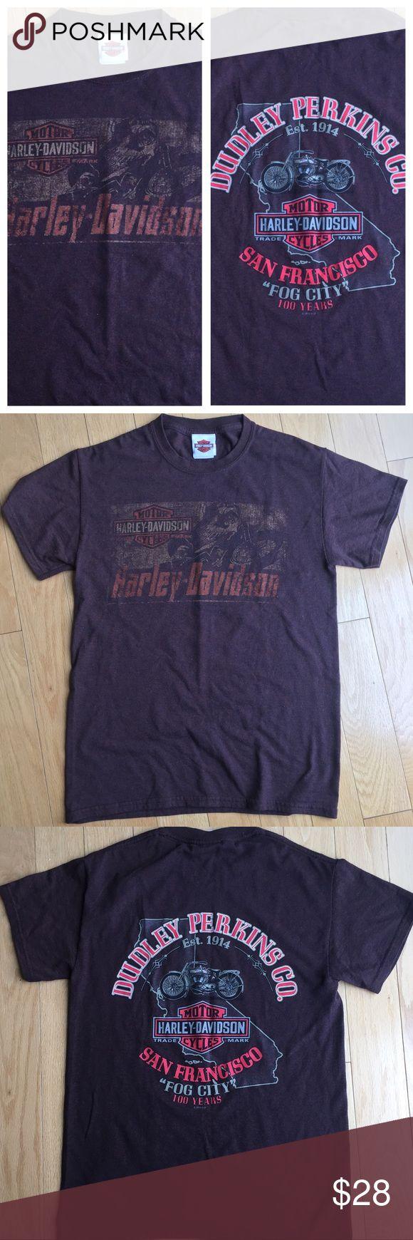 T shirt design on queen city - Harley Davidson Sf Fog City 100 Years T Shirt Brown Harley T Shirt With