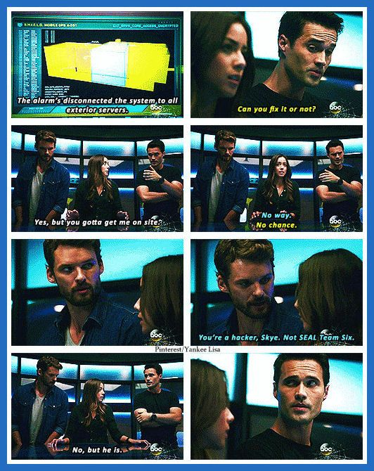 I love how she was obviously dumping her boyfriend and putting him in Ward's line of fire!!!