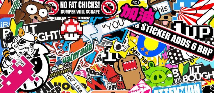 Sticker Bomb Space Art / Retro Futurism Sticker bomb
