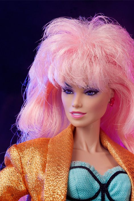 Hollywood Jem and the Holograms doll by Integrity Toys. The first release in Integrity's Jem line (and the first new Jem doll in 25 years).  She is a special edition release sold at the 2012 San Diego ComiCon.  Original retail was 125 dollars.