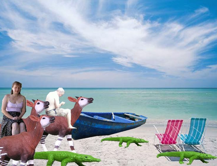 clip ART me and spouse on the fictional beach