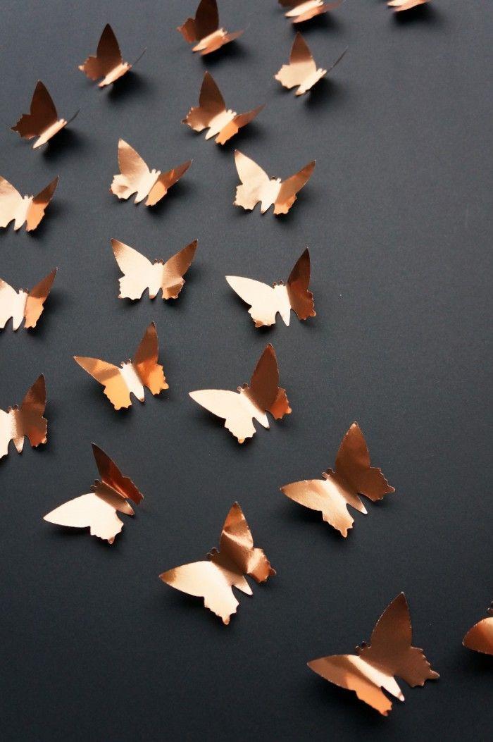 3D Vlinders van Koper