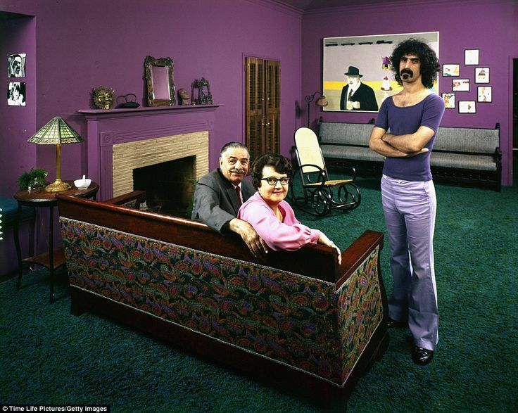 Frank Zappa and their parents, 1971.