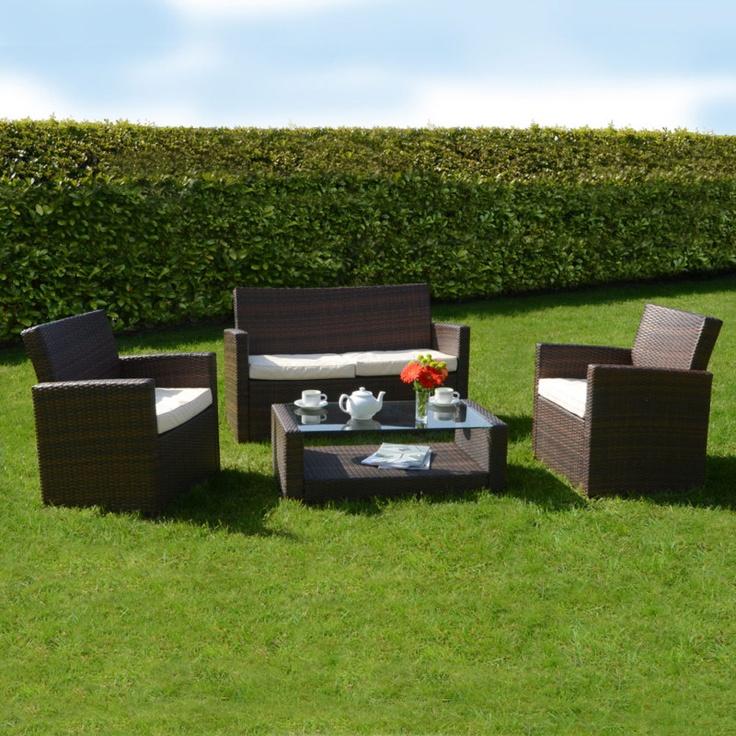 Azuma Tuscany Rattan Wicker Outdoor Sofa Chair Set Garden Conservatory Furniture | eBay