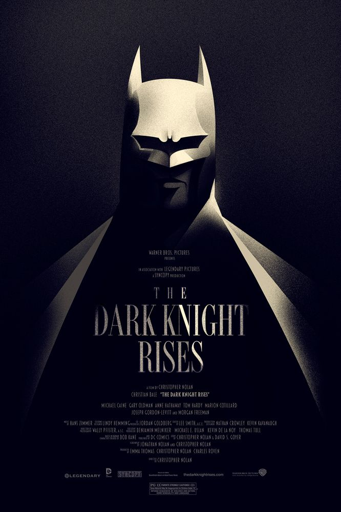 "Vintage Style Movie Poster For ""The Dark Knight Rises"""
