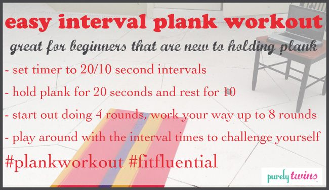 easy interval plank workout from @Lori and Michelle #fitfluential #plankworkout