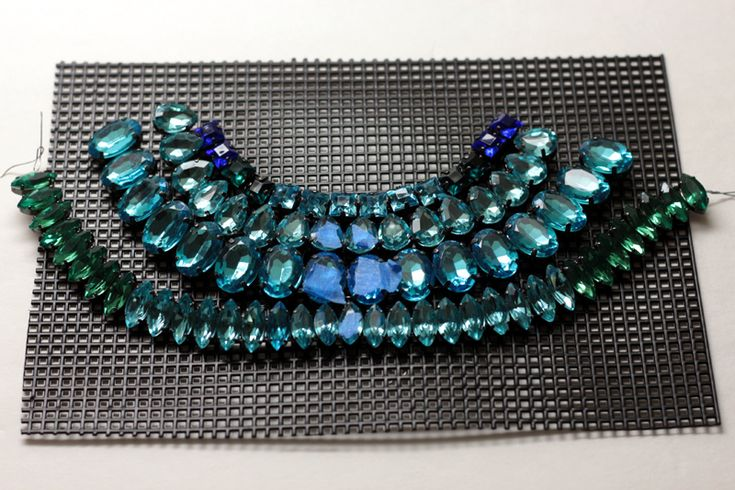Statement Necklace Tutorial: DIY Rhinestone Necklace
