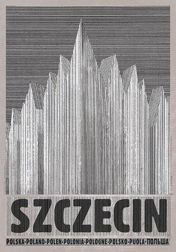 Szczecin | Polish Poster by Ryszard Kaja