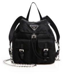 Prada Vela Mini Crossbody Backpack 👠 #affiliate