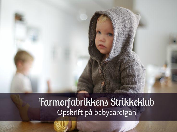 DIY: Babycardigan med hætte (foto- og videoillustreret opskrift med trin-for-trin vejldning)