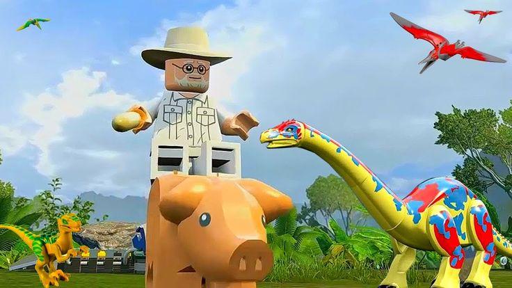 LEGO Jurassic World Прохождение.Природа Динозавров.Игры мультики Динозав...