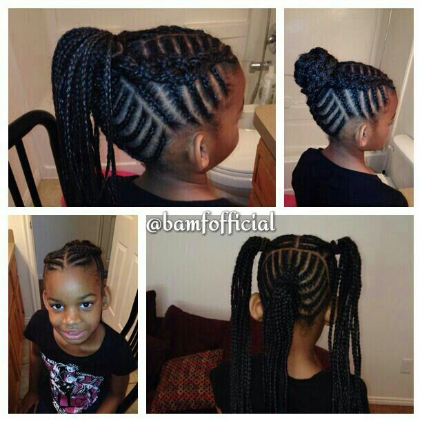 Natural Hair Kids Kids Hair Braiding Styles Pinterest