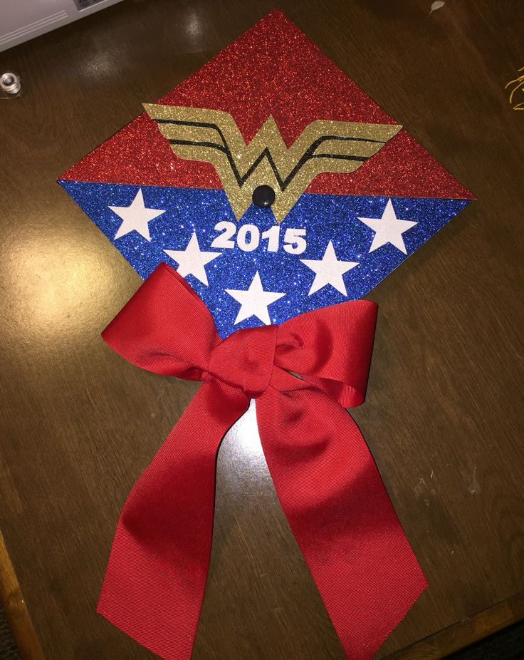 Wonder Woman graduation cap #wonderwoman #wonder #woman #graduation #cap #graduationcap