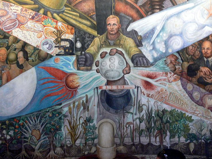 Diego Rivera, center detail (Man. Controller of the Universe) 1934