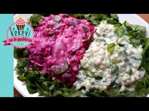 Semizotu Salatası (Buğday, Yoğurt ve Pancarlı) - Kekevi.com