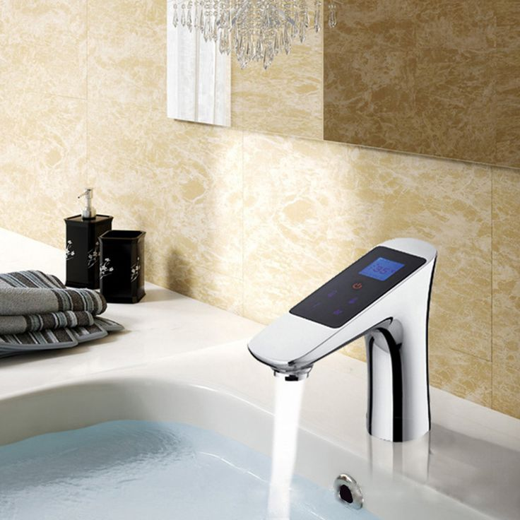 Thermostatic function, temperature and flow are adjustable on touch panel