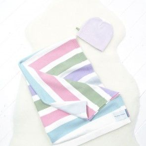 Baby Blanket and Beanie Hat Gift Set