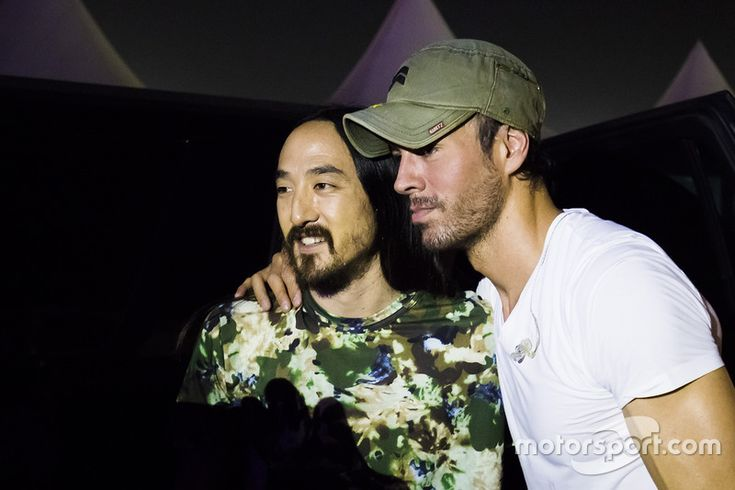 DJ Steve Aoki performs with Enrique Iglesias
