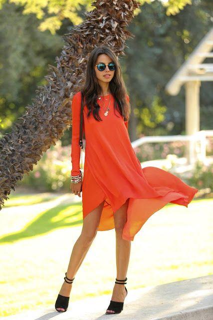 Flowy Burnt Orange Dress