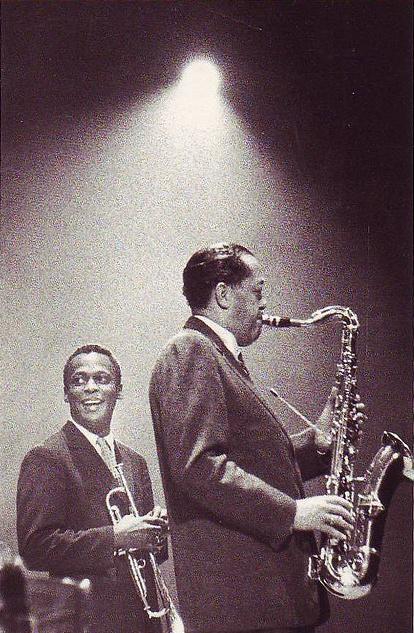 Ed van der Elsken     Miles Davis and Lester Young, Amsterdam     1957