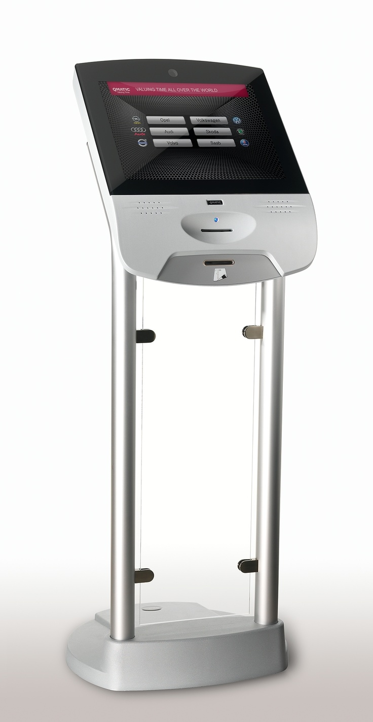 Qmatic registration kiosk with Zytronic touch screen technology