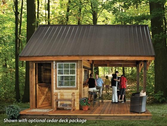 I like the metal roof for this. Make the side yard shed for storage look similar
