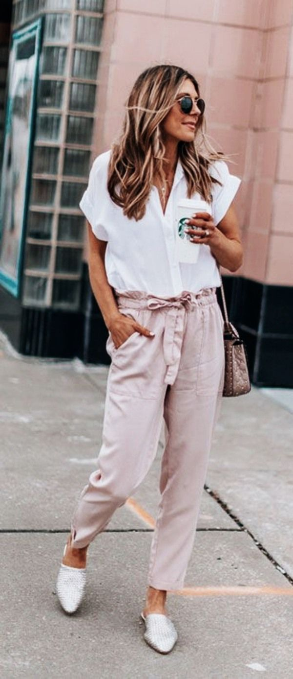 35 Casual Work Outfits with Flats for Every Women