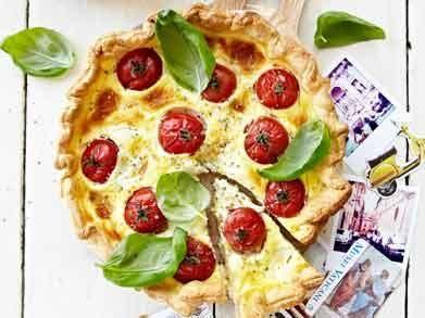 Quiche met tomaat, mozzarella en basilicum (Libelle Lekker!)