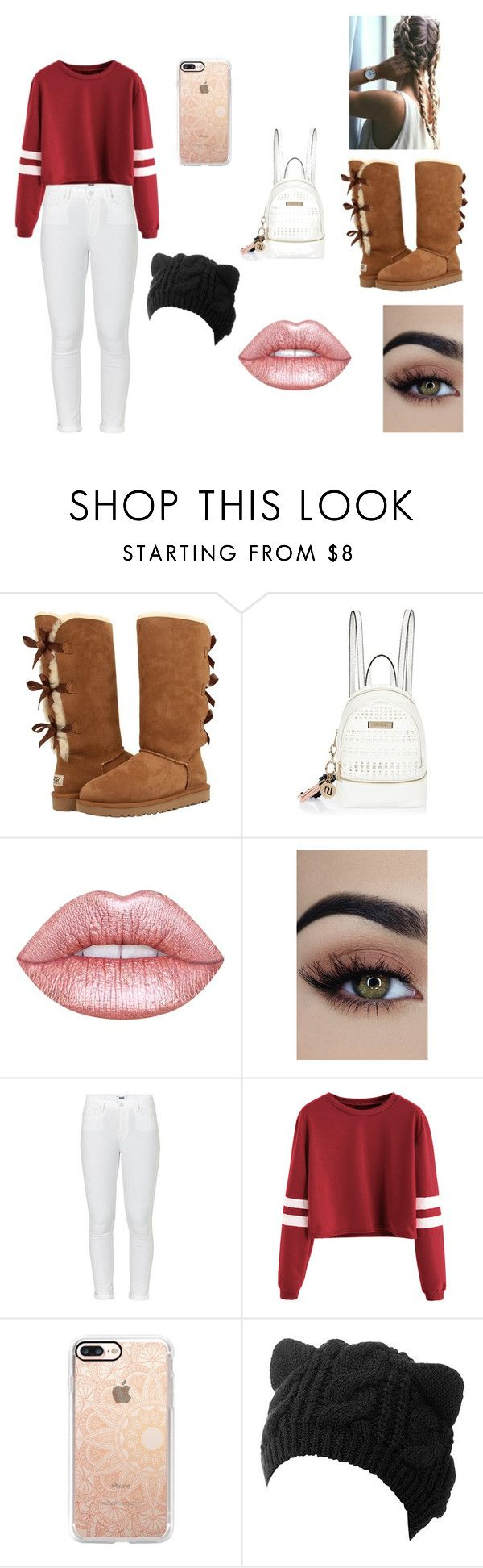 """""""cold day outfit"""" by dasminxoxoquinn on Polyvore featuring UGG, River Island, Lime Crime, Paige Denim and Casetify"""