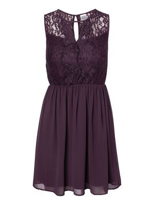 JOSEFINE LACE S/L DRESS #veromoda #lace #dress #party #purple @Veronica MODA