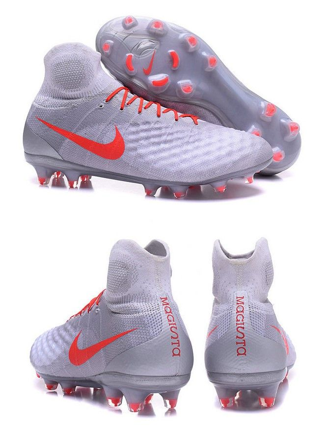 White Nike Magista Obra II 3-D texture is amplified on the high-use
