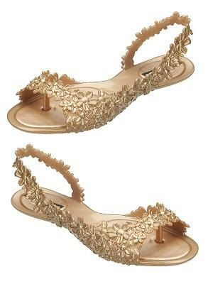 melissa shoes...love the gold floral; a bit of a statement piece, would probably wear with all black