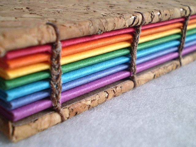 pretty rainbow coptic stitch book - We are running a tutorial on How to make a book - Coptic Stitch Sunday 19th May! Go to http://paperlab.co/bookings to find out more!