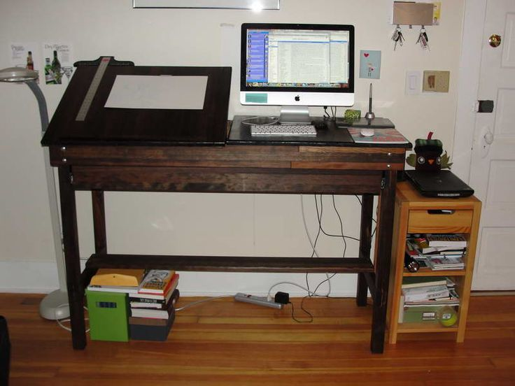 ikea standing desk with key chain