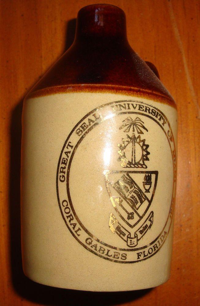 1925 ORIGINAL VINTAGE LITTLE BROWN JUG U OF MIAMI CORAL GABLES FLORIDA