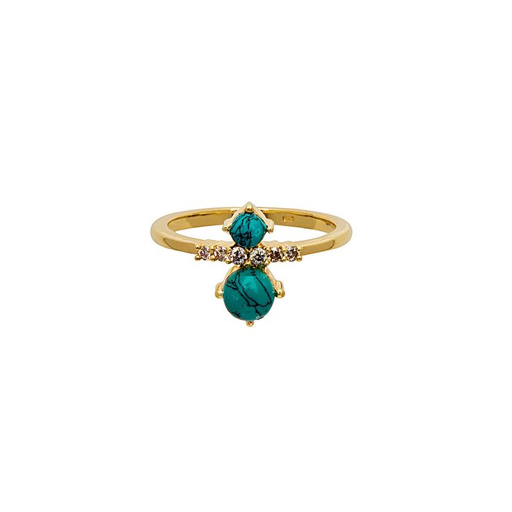 Celeste Ring / Turquoise from D A M S E L F L Y